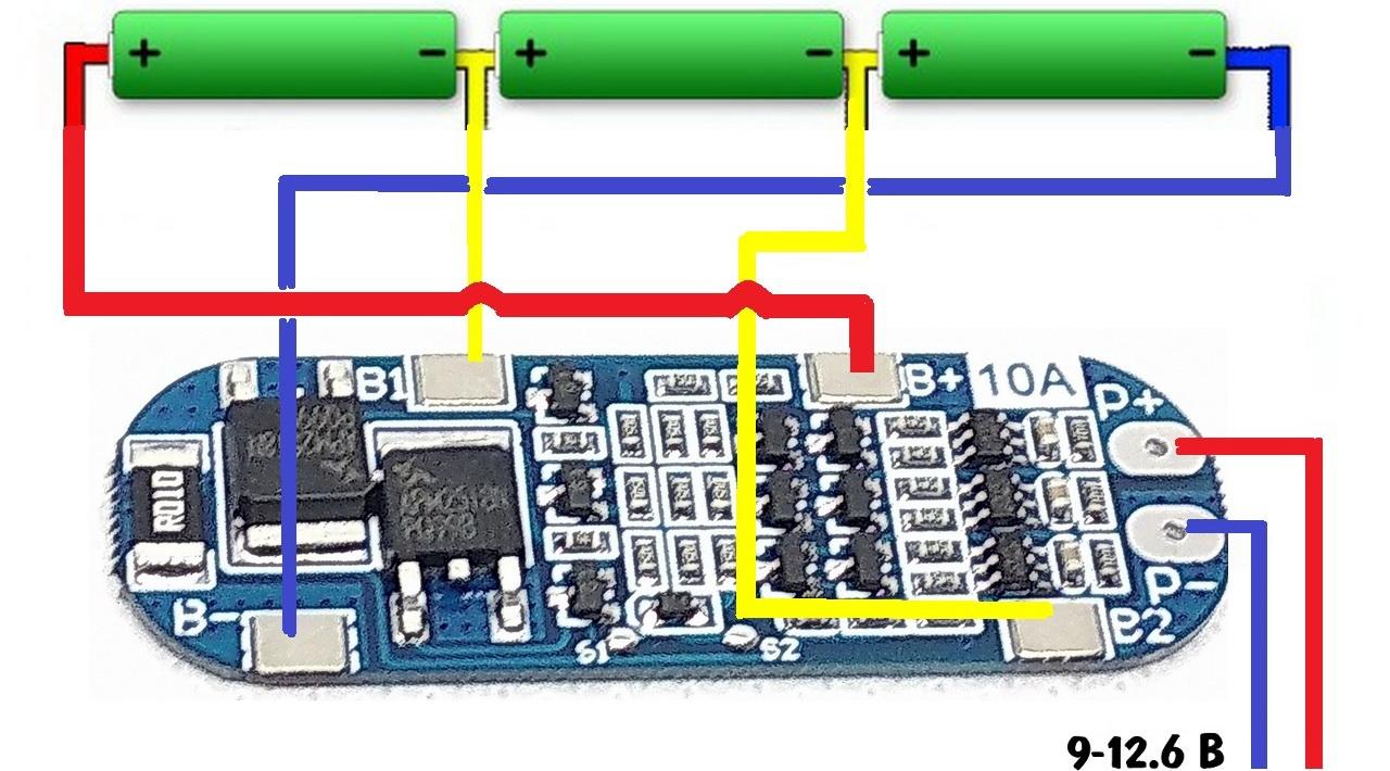 Вид платы безопасности для li-ion аккумулятора фото