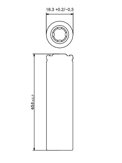 LG HE4; Dimensions; Размеры; 18650;