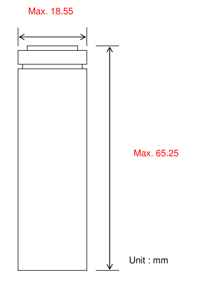 Li-ion; 18650; Dimensions; Samsung; 35E;