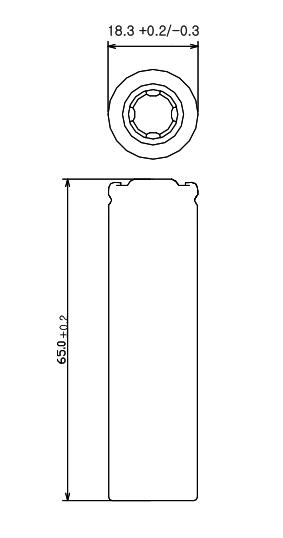 Dimensions; Li-ion; 18650: LG; HG2;
