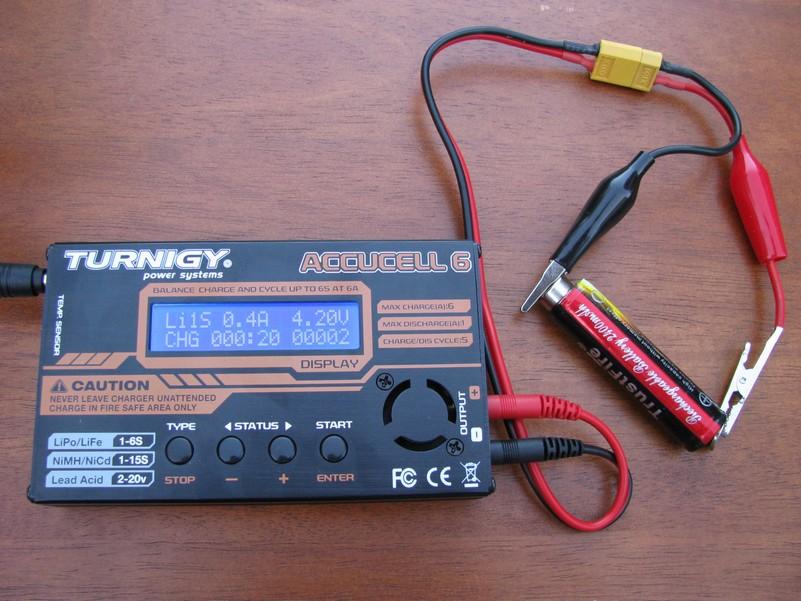 Первая зарядка Li-Ion аккумулятора фото