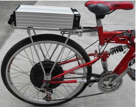 оснащениt велосипеда электроприводом фото